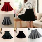 Fashion Women's Pleated Mini Skirt Cotton Stretch High Waist Short Skirt Hot G73