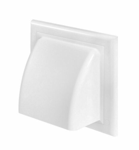 Cowled Gravity Flap Wall Outlet Non-Return Valve Cowl Air Vent Grille Duct Cover