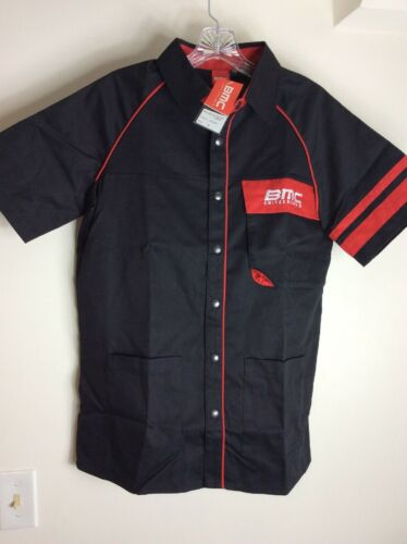 BMC Switzerland Short Sleeve Mechanics Shirt Snap Front M NWT