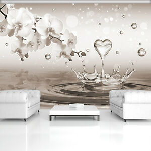 fototapete tapete fototapeten tapeten dekoration herz liebe orchidee 3495 p8 2080008022882 ebay. Black Bedroom Furniture Sets. Home Design Ideas
