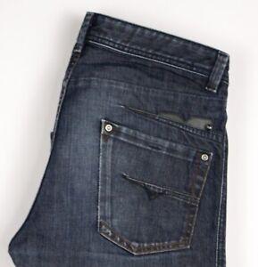 Diesel-Hommes-Darron-Droit-Jambe-Jeans-Standard-Taille-W32-L34-ASZ1577
