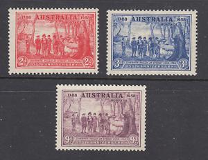 Australia-Sc-163-165-MLH-1937-NSW-Sesquicentennial-complete-set