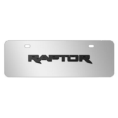 Ford F-150 Raptor in Red Mirror Chrome Metal License Plate Frame by iPick Image Made in the USA Official Licensed Product