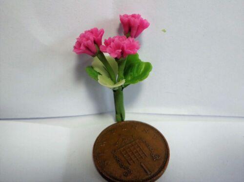 Jardín Escala 1:12 Flores De Geranio Rosa