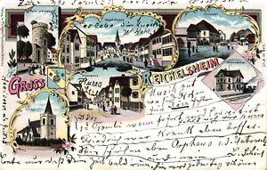Reichelsheim Wetterau, Couleur-excimer, 1899, Bahnpost Friedberg-nidda-afficher Le Titre D'origine