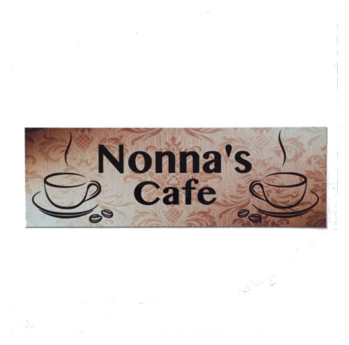 Name Custom Personalised Cafe Vintage Antique Coffee House Sign Plaque Hanging
