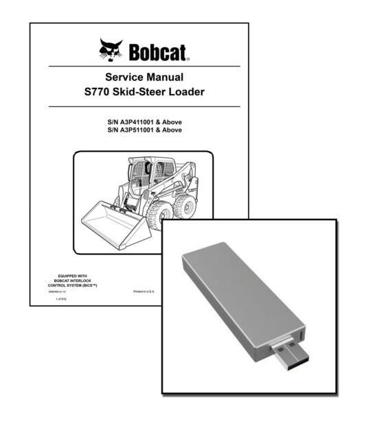 bobcat s770 service repair manual 910 pg 6989468 ebay rh ebay com Bobcat S850 Bobcat S750