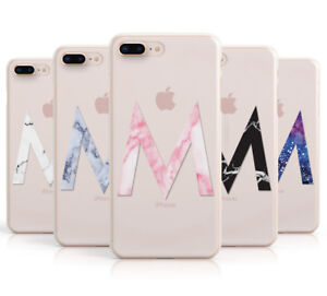 the latest b4290 846a7 Details about PERSONALISED MARBLE INITIAL CLEAR CUSTOM PHONE CASE FOR APPLE  IPHONE 8 PLUS