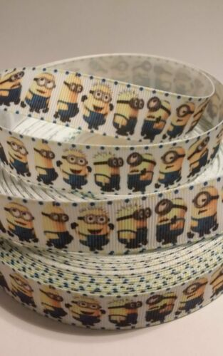 """USA Seller Minions inspired 7//8/"""" Grosgrain Ribbon By The Yard"""