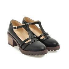 aa64b042921 Pleaser Beyond-020 Platform Mary Jane Pump Women's Black UK 3 for ...