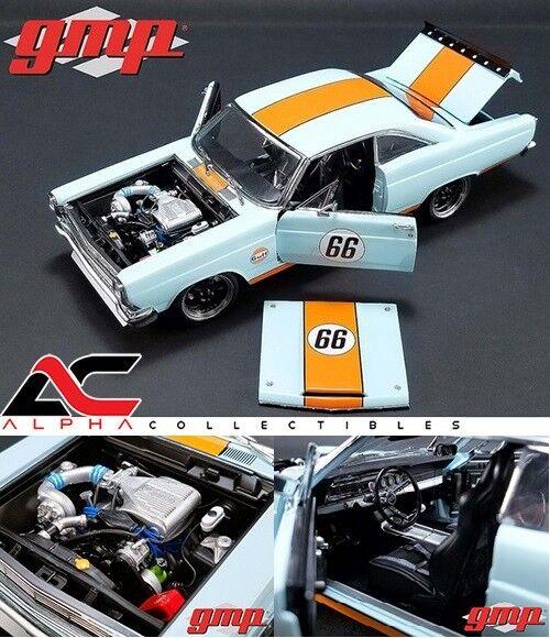 GMP 18858 1 18 1967 Ford Fairlane  Gulf Oil  Luz blu Ltd Ed 600 piezas