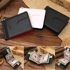 Luxury Men Topper Genuine Leather Wallet Slim Money Clip Credit Card Holder ID