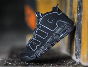 Nike Air More Uptempo Black 3M Size 10.5. 414962-004 Jordan Kobe Pippen
