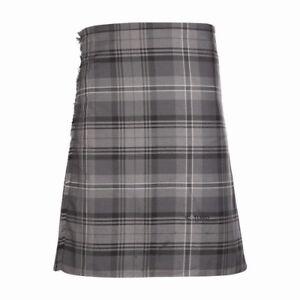 New-Scottish-Tartan-Wedding-Mens-Kilt-8-Yard-Polyviscose-in-Hamilton-Grey