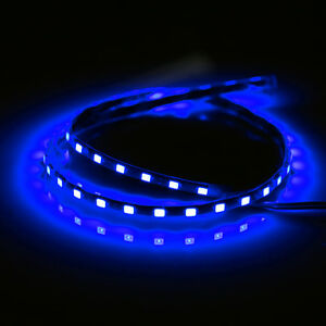 blue 12v waterproof flexible led neon strip light lamp for motorcycle car 45cm ebay. Black Bedroom Furniture Sets. Home Design Ideas