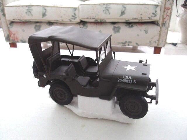 Willy's jeep con capota ejército estadounidense (2. guerra mundial) maqueta de coche 1 18 armyverde