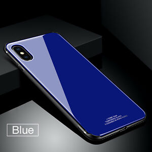 For-iPhone-X-7-Plus-TPU-Bumper-Tempered-GlassShockproof-Rigid-Case-Back-Cover