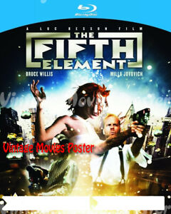The Fifth Element 1997 Reproduction Print Uk Willis Blu Ray Cover Luc Besson Ebay