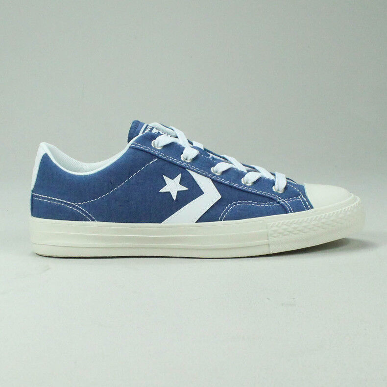 Converse Star Player Ox Chaussures paniers En Bleu Blanc Taille UK Taille 4,5,6,7,8,9,10