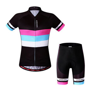 New-Woman-Cycling-Short-Sleeve-Bike-Clothing-Bicycle-Sports-Wear-Jersey-Shorts