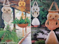 Sunny Side of Macrame patterns: HAMMOCK; OWLS, SLING CHAIR, FOOTSTOOL, SWING,  n
