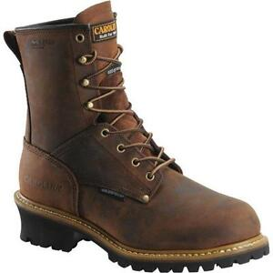 Men-039-s-Carolina-Boots-CA5821-8-034-Steel-Toe-WaterProof-Insulated-Logger-Copper-EE