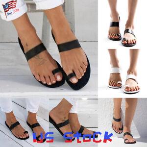Summer-Women-Sandals-Fashion-Shoes-Open-Toe-Slip-On-Ladies-Flip-Flops-Beach-US