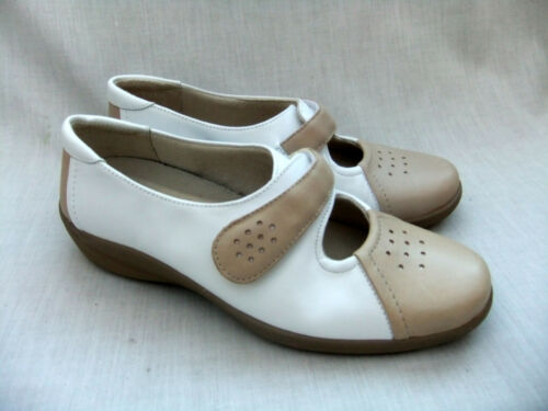 Leather scarpe Fan Fit Shape White Womens Size Combi 39 Wide 5 K Clarks New 5 1ZURqq