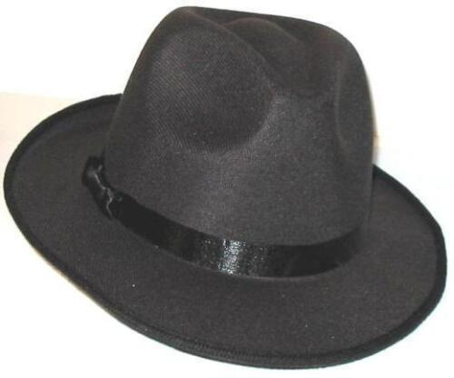 Gangster Gangsta Pimp Black 2 BLUES BROTHERS FEDORA HATS Free Shipping