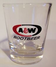 "A&W ROOTBEER SODA ""OLD TIME"" LOGO ON A CLEAR SHOT GLASS"