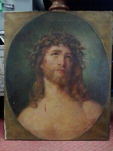 Dipinto-Cristo-olio-su-tela-cm-45x55-Antikidea