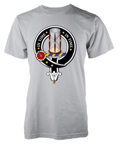 BNWT Houston Tartan Clan Écossais Écosse Famille Enfants T-shirt 3-15 Ans