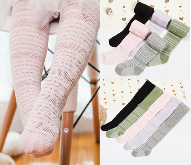 Baby Toddler Tights Girls Boys 1 Pair 90/% Cotton Various Colours 0 to 6 years
