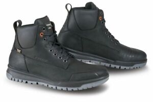 Falco-Patrol-Black-Motorcycle-Motorbike-Urban-Waterproof-Leather-Boots-All-Sizes