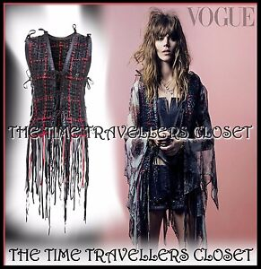 Kate-Moss-Topshop-Black-Red-Leather-Fringe-Waistcoat-1-200-Ltd-Ed-M-L-12-14-16