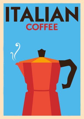 Canvas ITALIAN COFFEE Art Print Poster