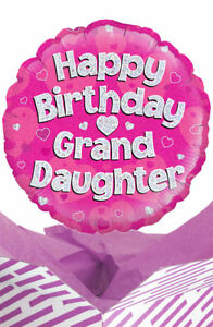 Happy Birthday Granddaughter Balloon In Box Gift Delivered