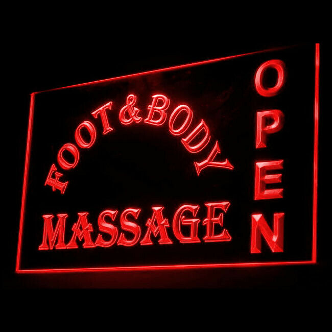 i315-g Massage Therapy Body OPEN NEW Neon Light Sign