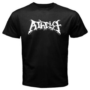 New ATHEIST Band Logo Men/'s Black T-Shirt Size S to 3XL