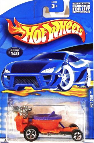 Car//Card Mint Hot Wheels #140 Hot Seat 2001 Series Orange with Lavender Seat