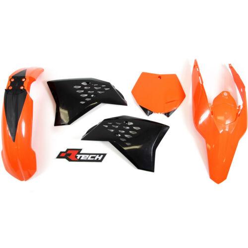 Racetech Plastics kit ORANGE BLACK KTM EXC 450 530 2008-2011