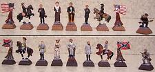 "Chess Set Pieces American History Civil War NEW hand painted pewter 2 1/2"" kings"