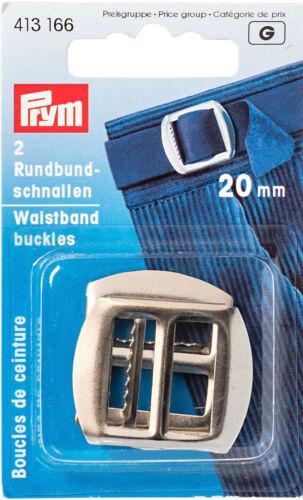 Prym 2 Rundbundschnallen 20 mm silber Rund Bund Schnalle Gurt Schliesse 413166