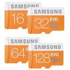 SAMSUNG EVO micro SD SDHC SDXC CARD 128GB 64GB 32GB 16GB 48MB/s* LOT CLASS 10