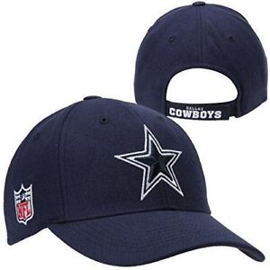 cab3f44fc Dallas Cowboys Hat Cap One Size Adjustable Strap Navy Blue Acrylic Wool  Blend