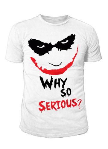 DC Comics Joker Why so Serious Batman Premium Herren T-Shirt Weiss S-XL
