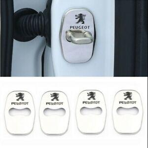 4PCS-Peugeot-207-301-308-508-3008-RCZ-Capot-protection-Acier-surfin-Embleme