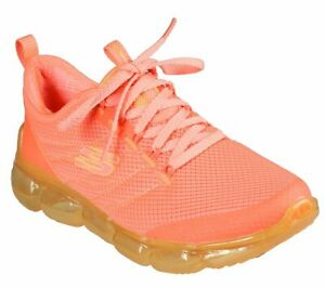 Skechers Shoe Women Orange Neon Memory