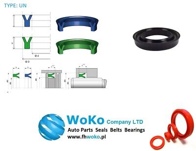4mm x 10mm x 4mm Large range of sizes available U-Cup Hydraulic Rod Seals UN Type