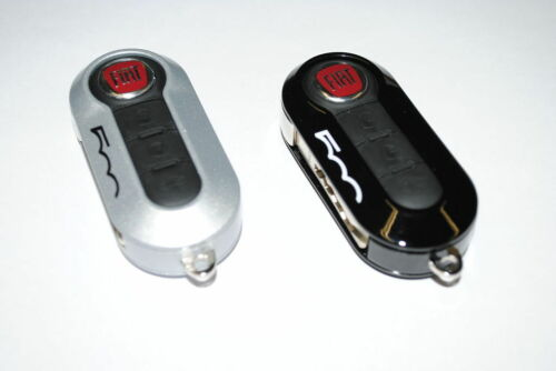 Fiat 500 Remote Key Covers Sprayed Gloss Type Black  Silver New Genuine 50927027